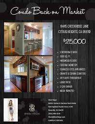 creekridge condo back on market roseville real estate rocklin listing flyer 8445 creekridge lane