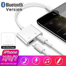 Bluetooth Lightning To <b>3.5mm</b> Earphone Jack Audio Adapter Cable ...