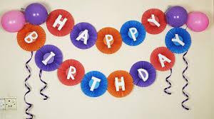 <b>Paper</b> Fan <b>Birthday Banner</b> | <b>Birthday</b> Decoration Ideas At Home ...