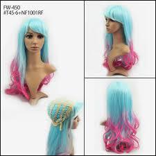 China Fashion DIP Dye <b>Ombre Synthetic</b> Halloween Long Wave ...