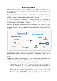 benefits of online job board