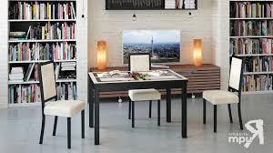 <b>Обеденный</b> раздвижной <b>стол</b> со стеклом «<b>Диез Т11</b>» / Кухонные ...