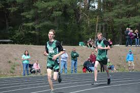 jpg hunter willey and skylar ouellette compete in the 800m run on saturday at the 2nd home meet of the season