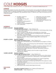 resume examples for teacher assistant org resume examples for teacher aide