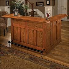 heres a large l shaped oak home bar with a good mix of open and cheap home bars furniture