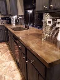 diy tile kitchen countertops:  minimalist concrete kitchen countertop ideas digsdigs