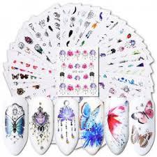40Pcs Watermark Slider Nail Art Stickers Flower Butterfly ... - Vova