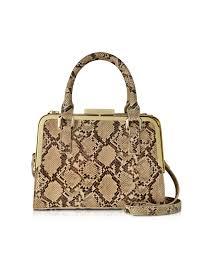 Купить lyric - бежевая сумка из эко-кожи с принтом animal ...