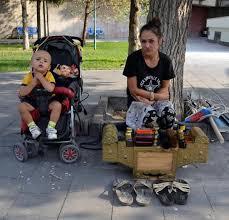 Kayseri'nin tek kadın ayakkabı boyacısı