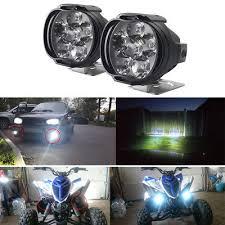 <b>New 2 Pcs</b> Car Motorcycle <b>Waterproof</b> LED External Lights Fog Light ...