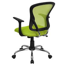 flash furniture mid back office chair with chrome finished base pop green black mid affordable office chair