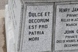 keywords et decorum est and tags to our glorious war dead dulce et decorum est pro patria