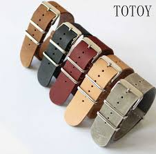 totoy 20mm 22mm woven nylon nato watchbands mens camouflage