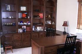 built in desk and home office built home office