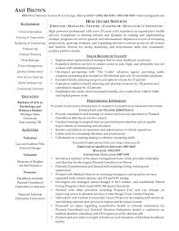 sample healthcare manager resume resume samples x  resume examples healthcare management business resume examples