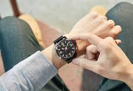 <b>Free Gift WWOOR Men</b> Analog Digital Leather Sports Watches ...