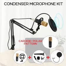 BM-800 Condenser Microphone Kit 3.5mm Recording Mic Tripod ...