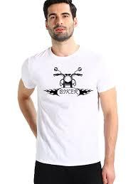 White Biker T-shirt