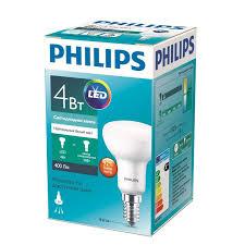 <b>Светодиодная лампа PHILIPS</b> ESS LED 4-50Вт <b>E14</b> ...