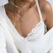 <b>HOMOD Vintage Gold Color</b> Horn Circle Pendant Necklace For ...