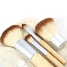 4pcs hot pro makeup brushes kit concealer blush foundation make up brush set wooden kabuki for mac makeup brush freeshiping