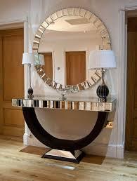 table mirror: quartz black mirrored console table amp mirror set