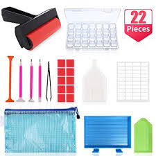 22 Pieces <b>5D Diamond Painting Tools</b> and Accessories Kits with ...