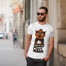 <b>T</b>-<b>Shirts</b> Graphic Design <b>Printed</b> Tee Wellcoda <b>Owl</b> Spiritual Fashion ...