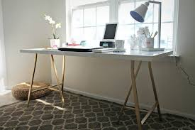 brilliant ikea hack white table top with gold legs my style republic within ikea office table brilliant ikea office table