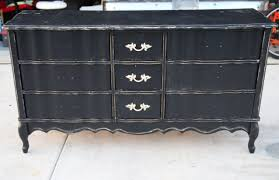 french style diy wood dresser makeover made from reclaimed wood painted with black color and 3 drawer with storage ideas black painted furniture ideas