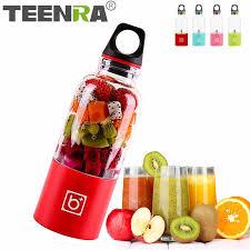 TEENRA 500ML Mini <b>Portable Electric Fruit Juicer</b> USB Bottle Juicer ...