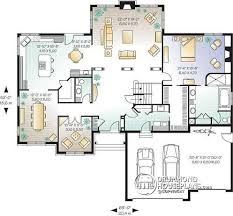 House plan W detail from DrummondHousePlans com    st level to bedroom American house plan  master bedroom on main floor