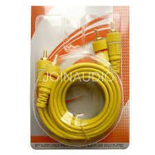 Audio Cable <b>RCA Cable 2RCA to</b> 2RCA Cable Yellow Wire (2R-2R ...