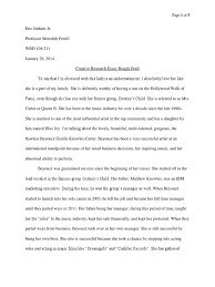 beyonce creative research paper rough draft beyonc atilde copy