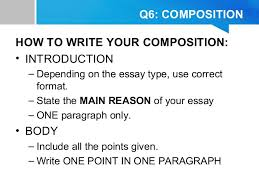 tips amp techniques of answering pt english paper   q composition how to write