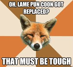 Oh, lame pun coon got replaced? that must be tough - Condescending ... via Relatably.com