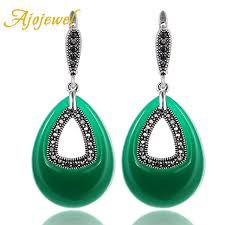 ajojewel simulated pearl elegant women earrings flower tassel jewelry front back design drop 2018