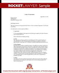 letter of agreement form template test business agreement sample letter