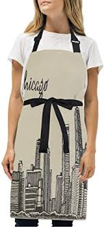 MATEKULI Aprons,Vintage Style <b>Urban Silhouette</b> Country Culture ...
