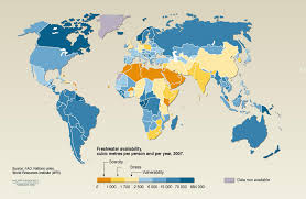water scarcity issues we re running out of water few resources org another map showing additional information regarding vulnerabilities