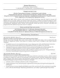 resume examples example teacher resume for elementary educator    professional teacher resume