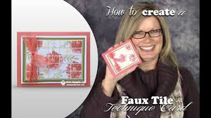 How to make a <b>Faux Ceramic</b> Tile Card with Stampin Up What I love ...