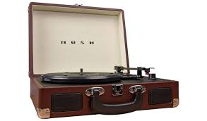 Buy Bush <b>Classic</b> Retro Portable Case <b>Record Player</b> - Brown ...