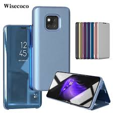 <b>Luxury Flip Stand</b> Case for Huawei Mate 20 Pro <b>Leather</b> Clear View ...