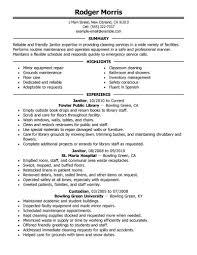janitorial resume livmoore tk janitorial resume 23 04 2017