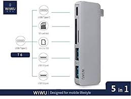 WiWu T6 lite Portable <b>5</b>-in-<b>1</b> Multi-Port <b>Docking Station</b>: Amazon.in ...
