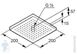 <b>Верхний душ KLUDI A-QA</b> DN 15, 200х200 мм (хром) 6653005-00 ...