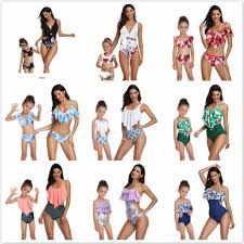 2019New <b>Summer Family</b> Matching <b>Outfits</b> Printing piece double ...