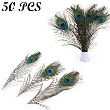 "50x <b>High Quality</b> Real Natural 10""-12"" <b>Peacock Feathers</b> Tail Eyes ..."