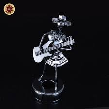 rocking band miniature abstractive cast iron hippie fashion metal crafts small iron man band style home decor creative orn